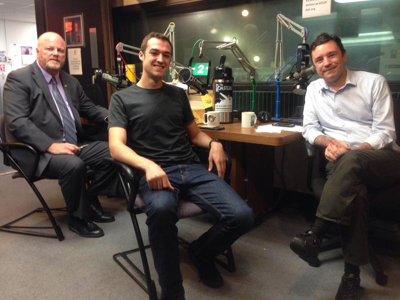 Left to right:  Senate candidate Brent Thurston Lasater, House candidate Tyler McCall, host Brian Ellison