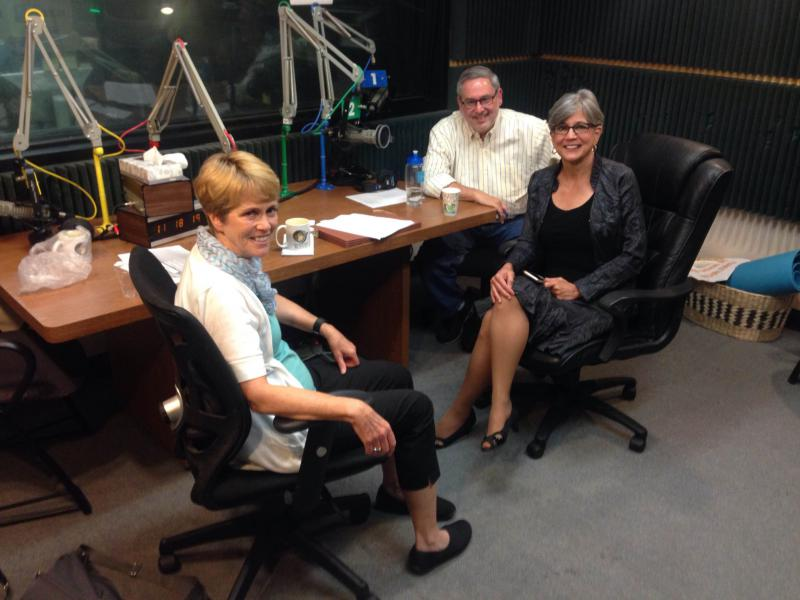 Clockwise around the table: Sam Zeff, Sen. Susan Wagle, Barbara Shelly