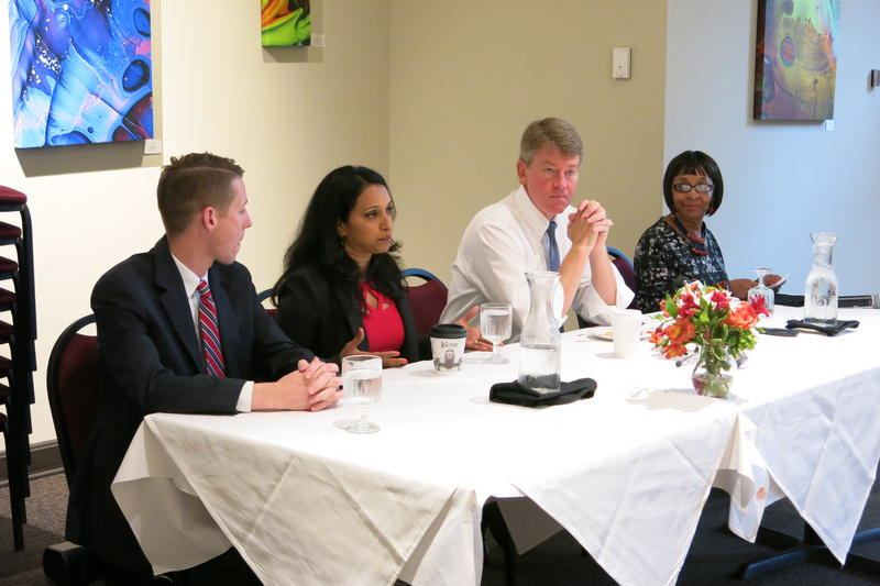 Missouri Attorney General Chris Koster was in Kansas City Wednesday to participate in a roundtable discussion with women business leaders.