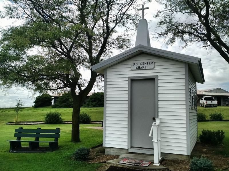The U.S. Center Chapel in Lebanon, Kansas.
