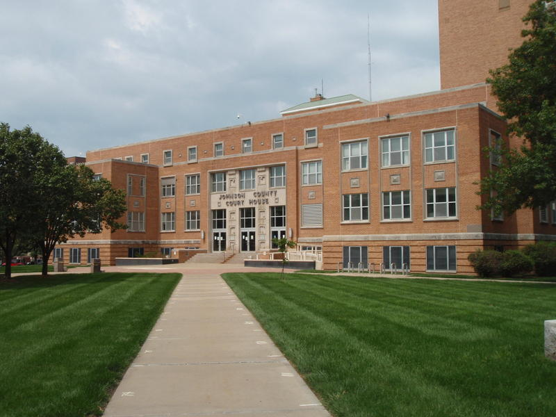 The oldest parts of the Johnson County Courthouse in Olathe, Kansas, were built in the 1950s. The building does not meet ADA accessibility standards.