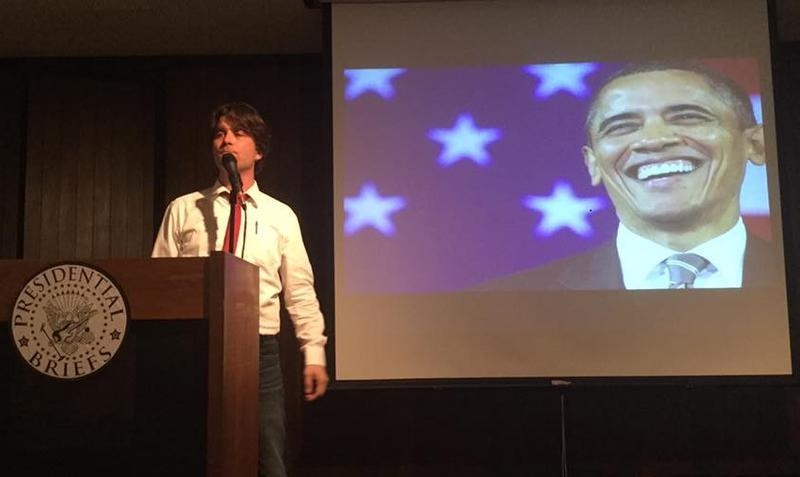 Ry Kincaid in 'Presidential Briefs.'