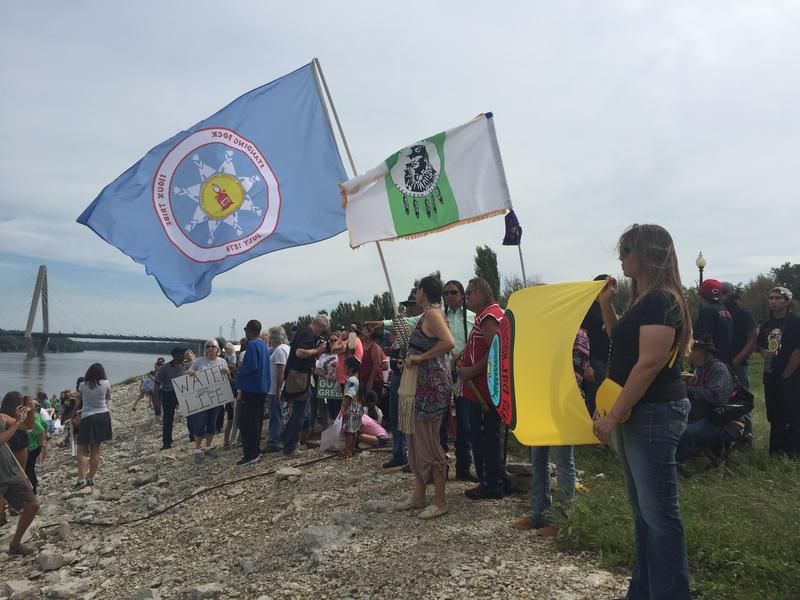 Hundreds of people gathered in September along the Missouri River park to protest the Dakota Access pipeline, which has been approved to pass under the Missouri River. The Kansas City Council approved a resolution opposing the pipeline on Thursday.