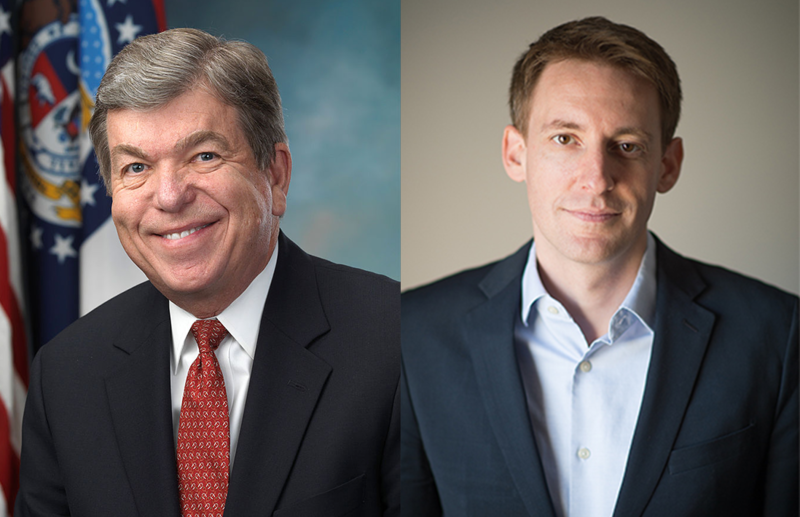 Sen. Roy Blunt (left) and Secretary of State Jason Kander are locked in a virtual tie in their race for the U.S. Senate.