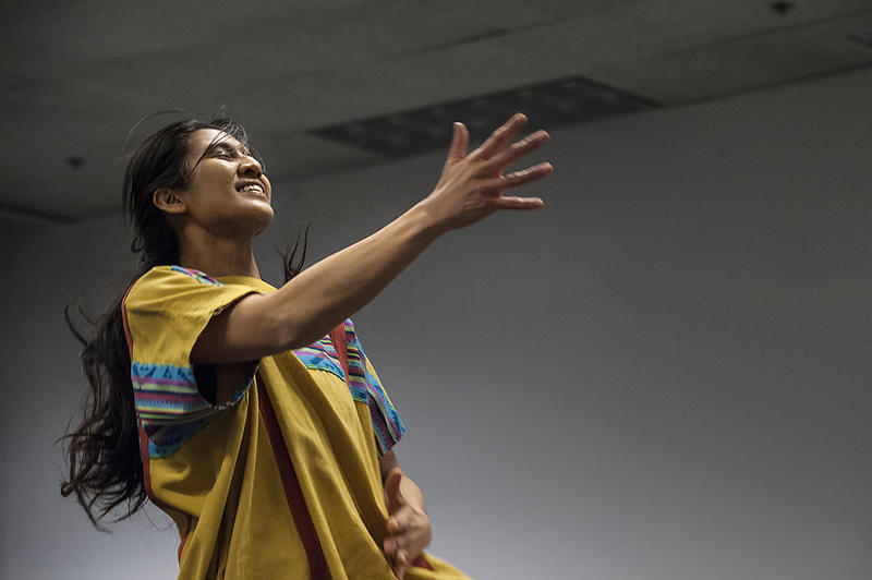 Co-Creative Director Karen Lisondra re-imagines a traditional harvest dance for a program that will highlight dance and music from cultures of indigenous Mexico, Cherokee, the Andes and the Philippines.