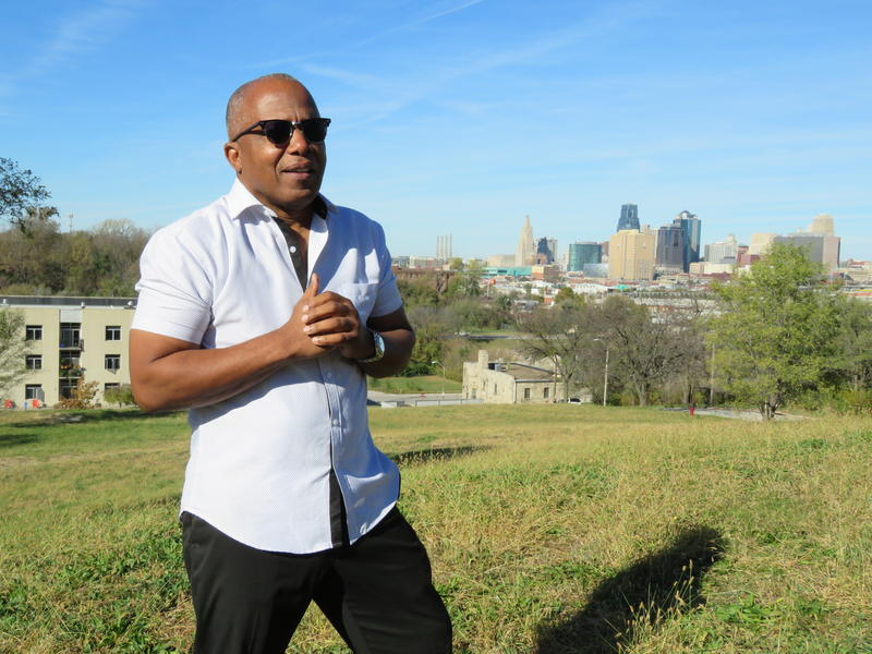 Vewiser Dixon stands on part of the land he wants to develop into a tech hub for minority entrepreneurs, across the street from Lincoln College Preparatory Academy.