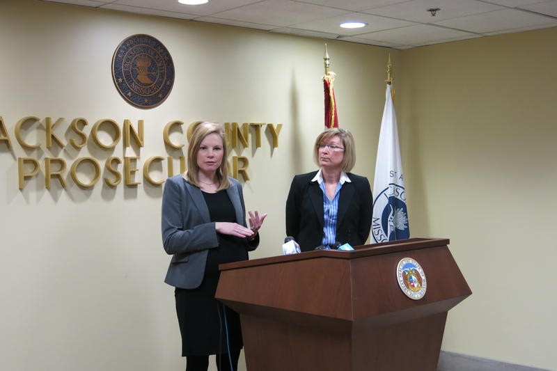 Missouri State Auditor Nicole Galloway and Jackson County Prosecutor Jean Peters Baker discussed proposed legislation that would make official misconduct a felony at a press conference Tuesday.