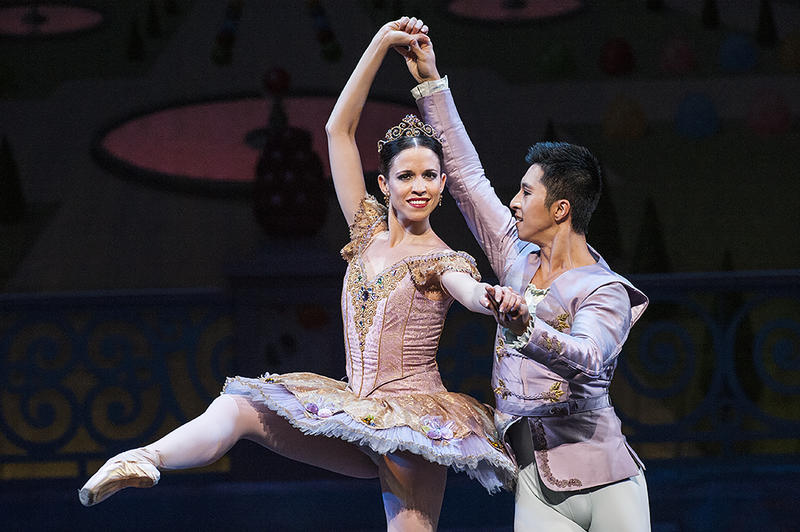 Kansas City Ballet's 'The Nutcracker' features dancers Amaya Rodriguez and Liang Fu as the Sugar Plum Fairy and her Cavalier.