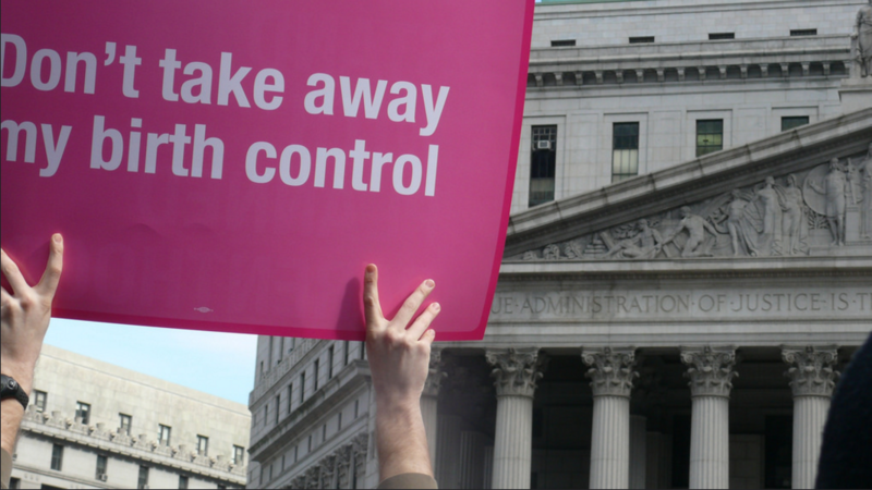 Placard from 2011 Planned Parenthood Rally in New York City.