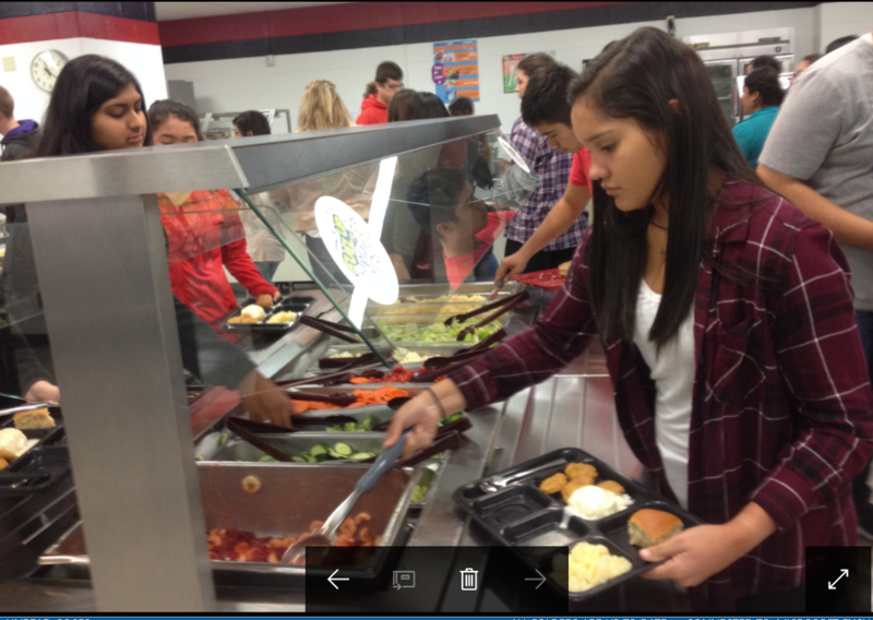 Students at Liberal High School are allowed to take as much fruit and vegetables as they'd like from the school's salad bar.