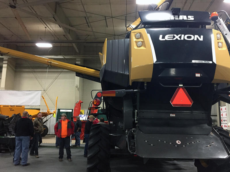 Thousands of farmers attend the Nebraska Power Farming Show in Lincoln to price out new equipment.