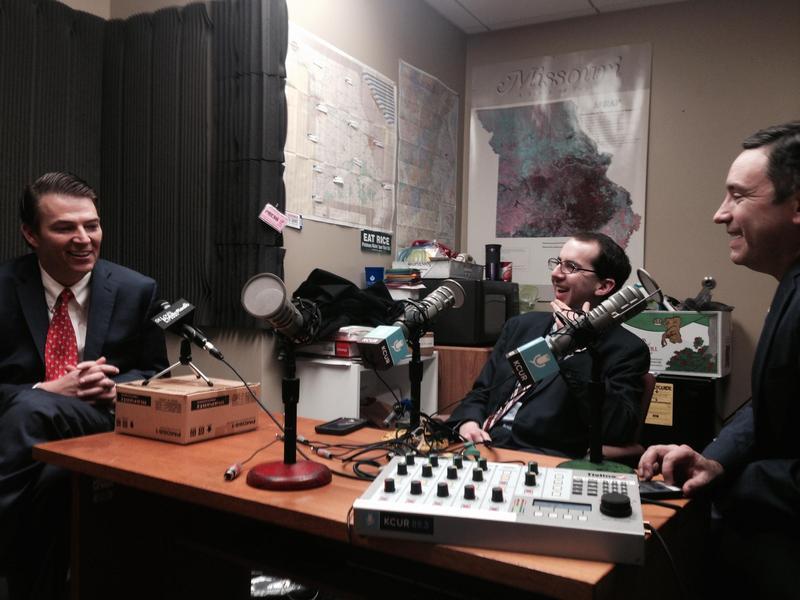 From left to right: House Speaker Todd Richardson, Jason Rosenbaum, Brian Ellison
