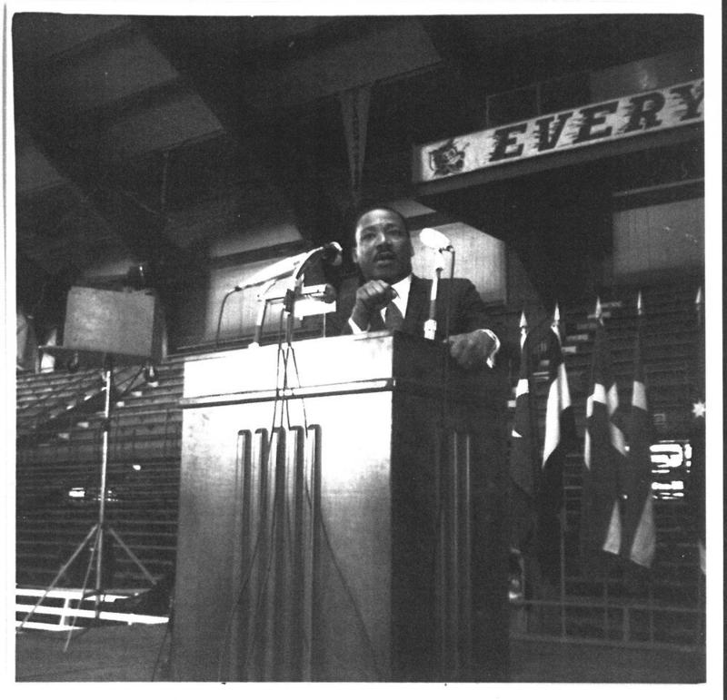Martin Luther King, Jr. at K-State in 1968.
