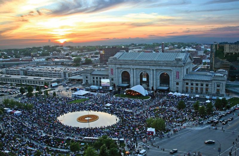 The Kansas City Symphony's annual free Memorial weekend concert at Union Station, called 'Celebration at the Station,' draws tens of thousands each year. This year's event received support from the NEA.