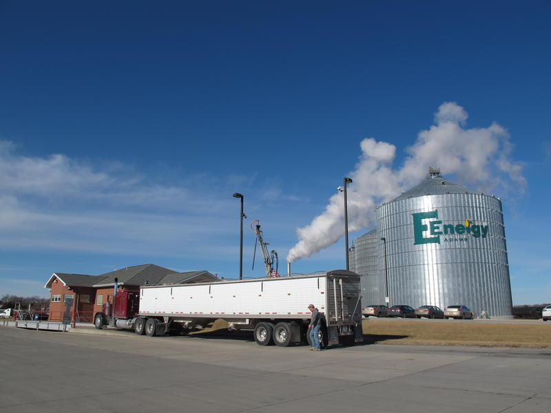 The E Energy ethanol plant near Adams, Neb., processes nearly 50 millions gallons of ethanol annually.