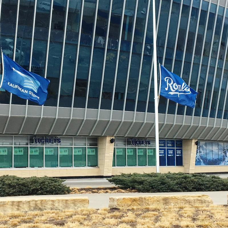 Flags flew at half-mast at Kauffman Stadium, in honor of pitcher Yordano Ventura.
