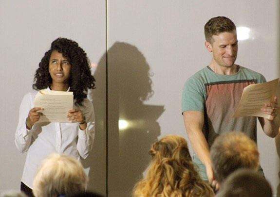Randomly selected actors read anonymous short plays at the Rep's Playwright Slam in August 2016.