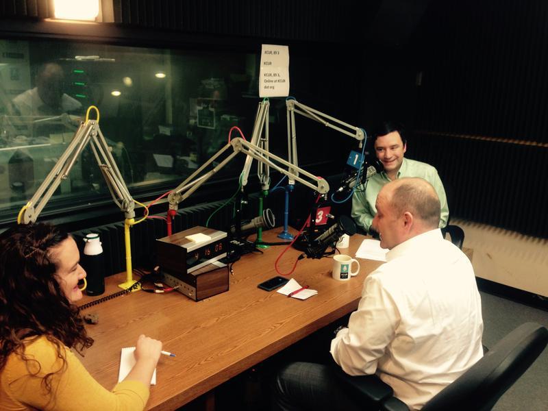 Sen. Denny Hoskins talks with KCUR's Elle Moxley and Brian Ellison