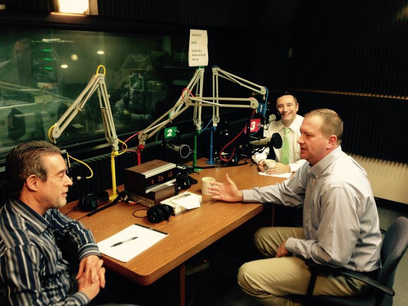 Clockwise around the tabe: Brian Ellison, Eric Schmitt, Dan Margolies
