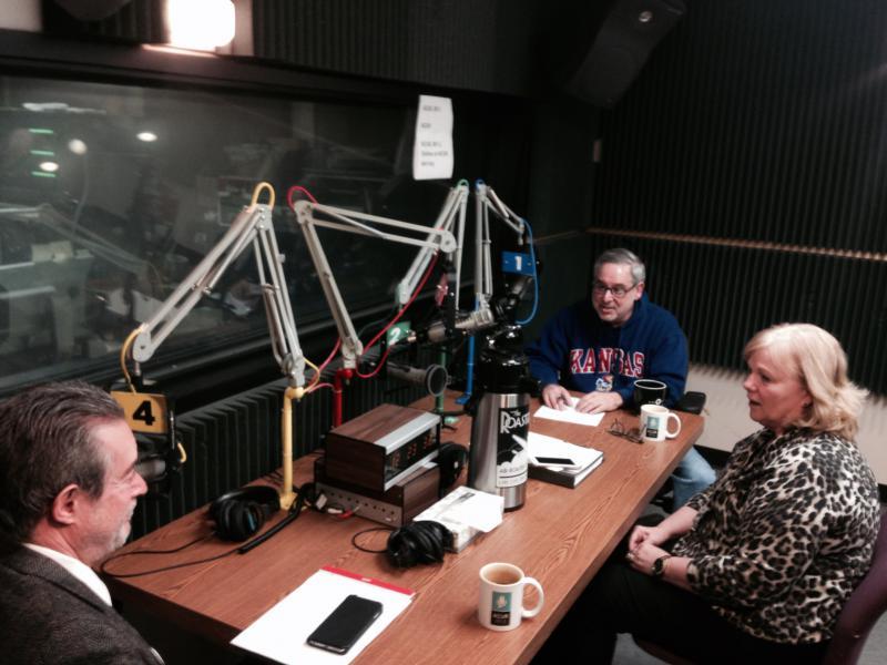 Clockwise around the table: Sam Zeff, Rep. Susan Concannon, Dan Margolies