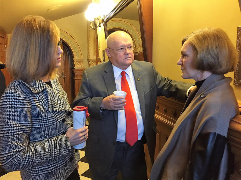 Johnson County Republicans in the Kansas Senate include, from left, Dinah Sykes, John Skubal and Barbara Bollier. They were among senators who say bills set for debate Thursday didn't do enough to fix the state's underlying budget issues.