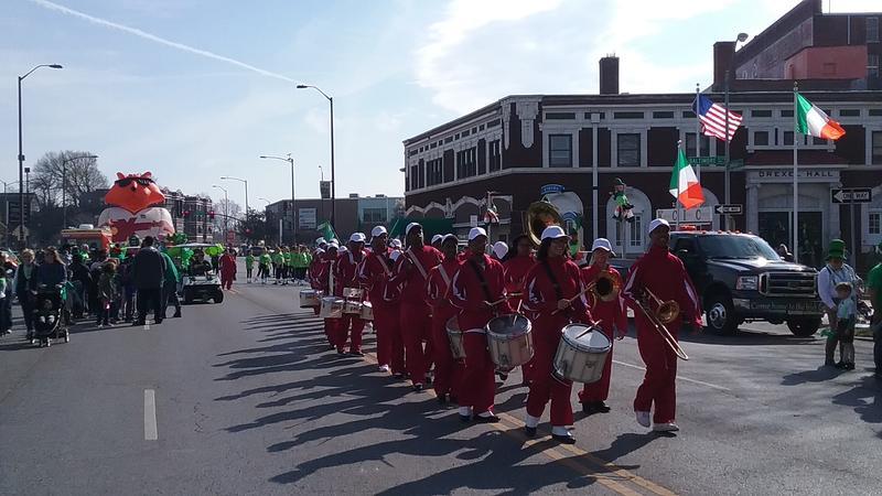 Kansas City's St. Patrick Day Parade gets underway.