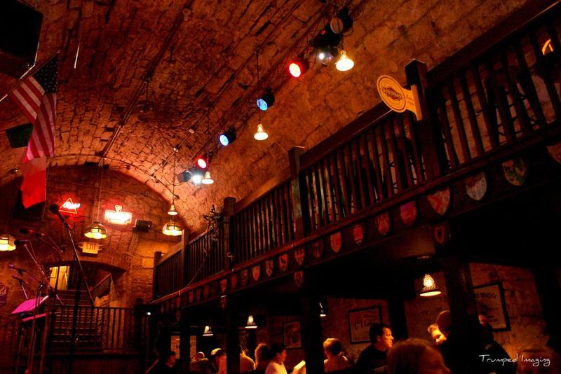 The lower cellar, called The Hall Stage, is one of O'Malley's underground venues.