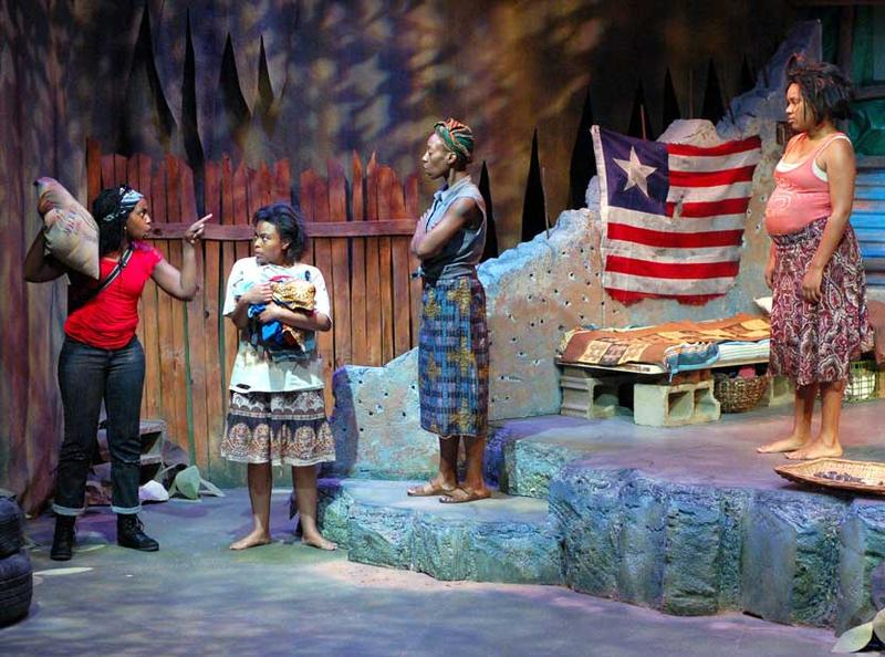 Njeri Mungai, Teisha M. Bankston, Dianne Yvette and Ashley Kennedy in 'Eclipsed.'