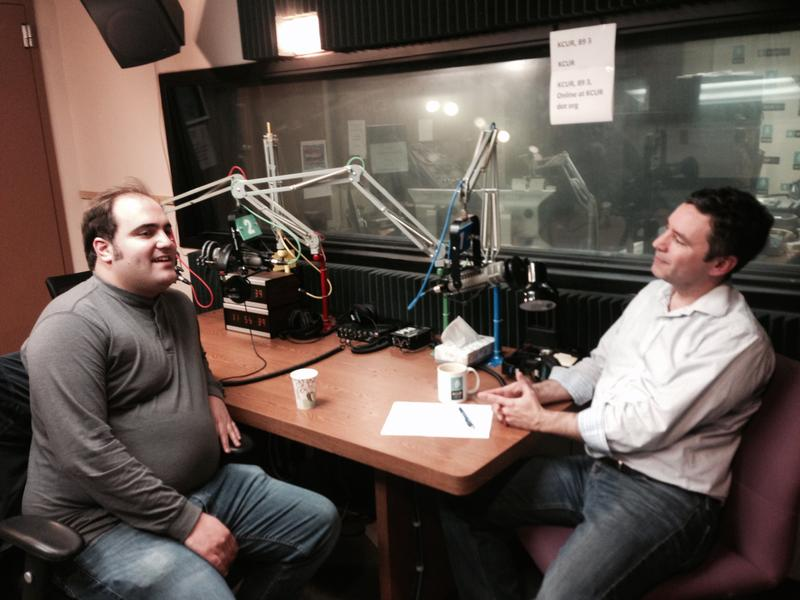 The Kansas City Star's Bryan Lowry (left) and host Brian Ellison. (Not pictured: Jason Rosenbaum.)