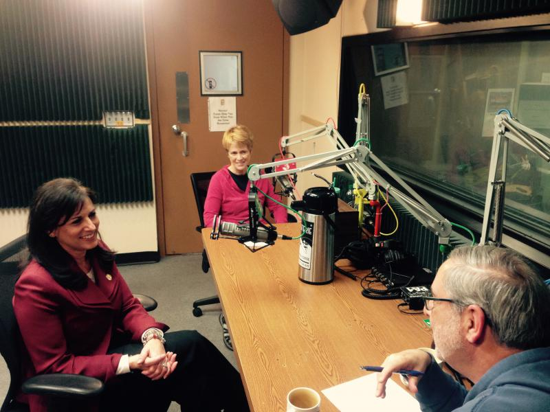 Clockwise around the table: Barb Shelly, Sam Zeff and Rep. Melissa Rooker
