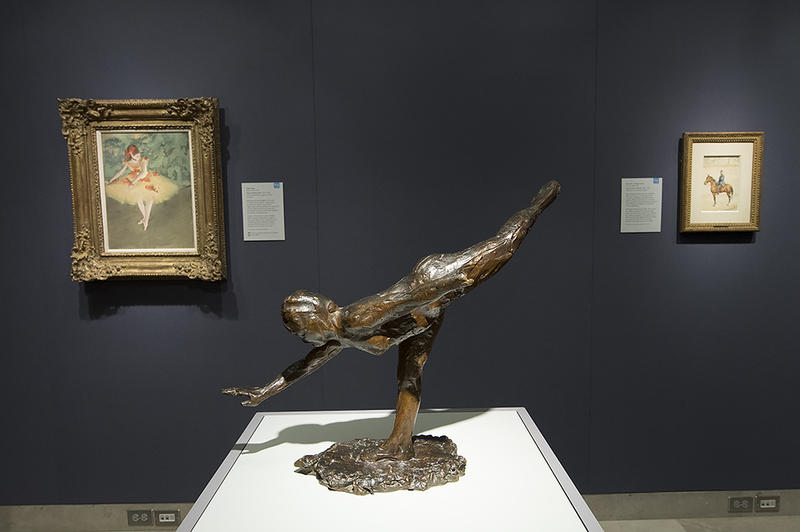 'Grande Arabesque,' a bronze by Edgar Degas in the Pastel Gallery.