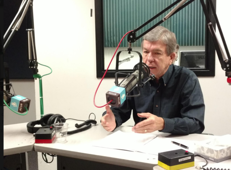Sen. Roy Blunt, R-Mo., speaking in KCUR's studio last year.