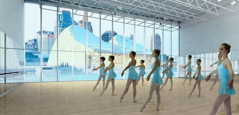A rendering of the dance space.