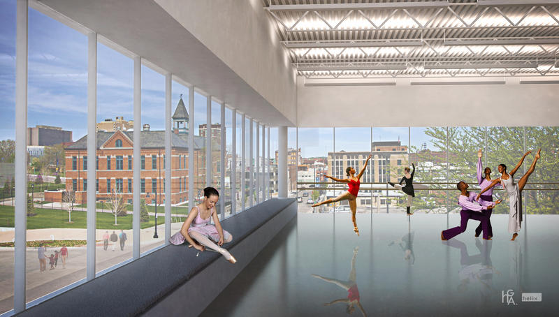 Another rendering of the dance space.