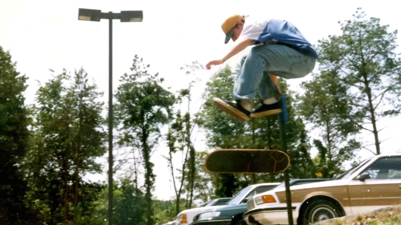 A scene from Richie Wolfe's skateboarding film 'The Line.'