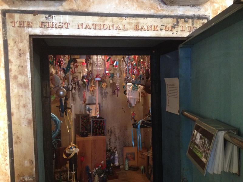 An old bank vault inside the Grassroots Art Center is now filled with artistic treasure, instead of cash.