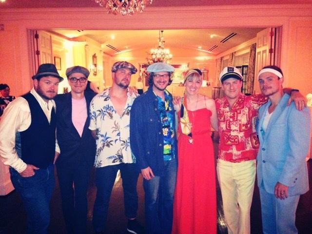 Yacht-rockers Summer Breeze are (left to right): JD Warnock, Chris Sieggen, TJ Fletcher, Chuck Whittington, Allison Brimblecom, Billy Brimblecom Jr., and Greg LaFollette.