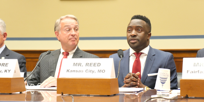 Kansas City Councilman Jermaine Reed (right), testifies before the House Committee on Oversight and Government Reform Subcommittee on Intergovernmental Affairs.