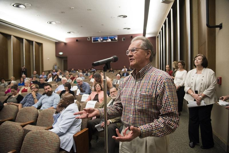 More than a hundred Kansas Citians joined KCUR and NPR for A Nation Engaged, a conversation about power and the presidency as President Donald Trump nears the 100-day mark.