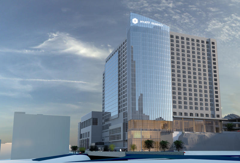 The City Plan Commission approved an updated development plan for an 800-room convention hotel in downtown Kansas City.