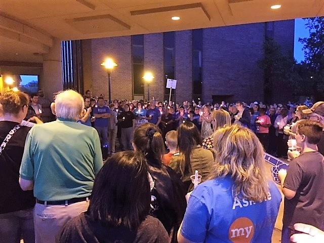 Rumors about the future of St. Francis Health in Topeka spurred supporters to organize a vigil Monday outside the hospital. On Tuesday the hospital's owner said it would cease operations there this summer.