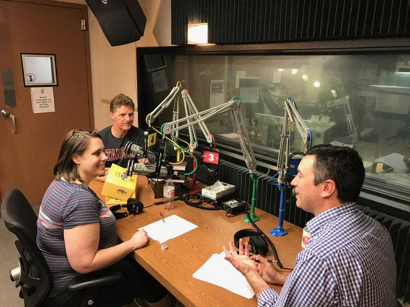 Maria Carter and Steve Kraske talk with host Brian Ellison (right).
