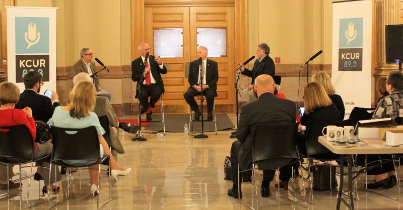 From left: Sam Zeff, Rep. Jim Ward, Rep. Don Hineman and Jim McLean.