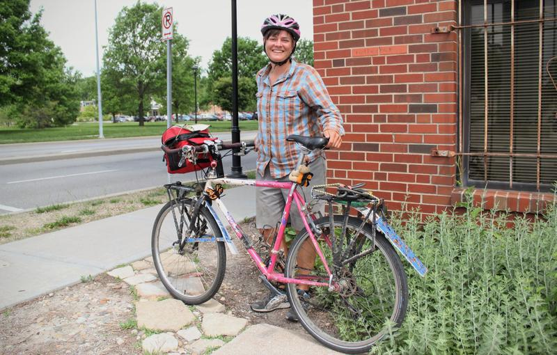 """Sara Dykman's plan is to ride her bike along the migratory path of monarch butterflies, and through three countries. """"Every day is different,"""" she says. """"I'm having a blast."""""""