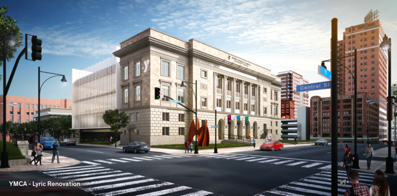 A rendering of a proposed downtown YMCA facility in the works. It currently needs around $9 million more in funding.