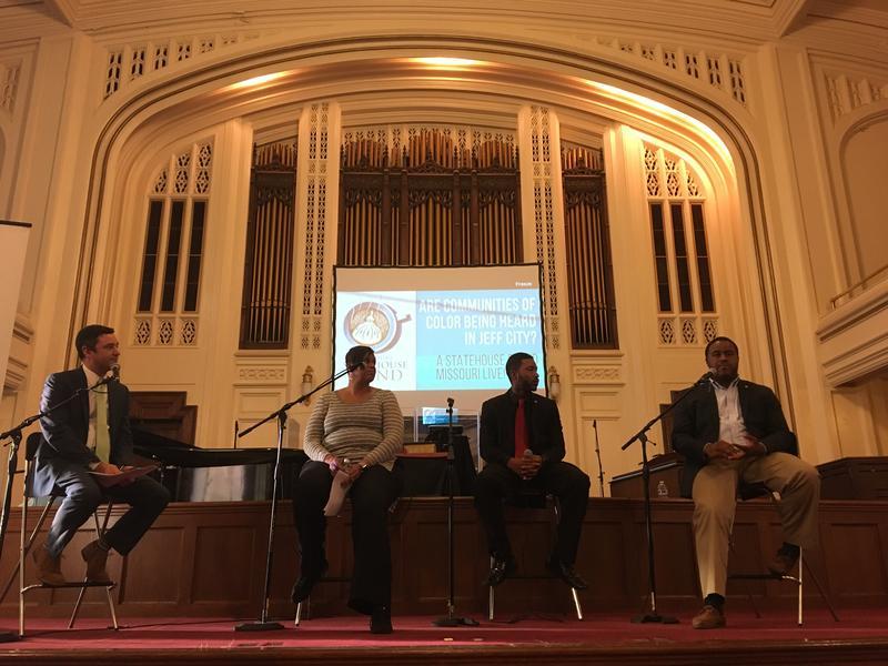 From lef to right: Brian Ellison, Representative Beatty, Representative Ellington, Representative McGee