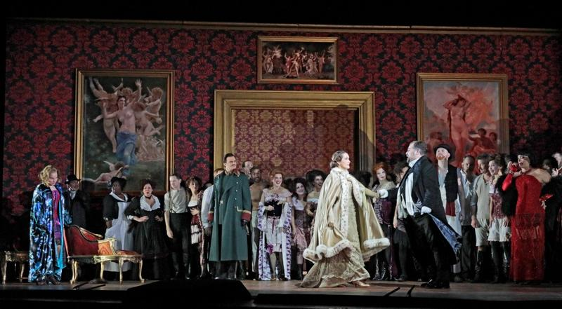 Bass Scott Conner, pictured here in the green overcoat, performs in 'Der Rosenkavalier' at the Metropolitan Opera in New York.