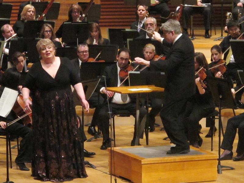 Christine Brewer sings the soprano part in Britten's War Requiem this weekend. Brewer is shown here with Music Director Michael Stern and the Kansas City Symphony after performing Richard Strauss' Four Last Songs in February 2013.