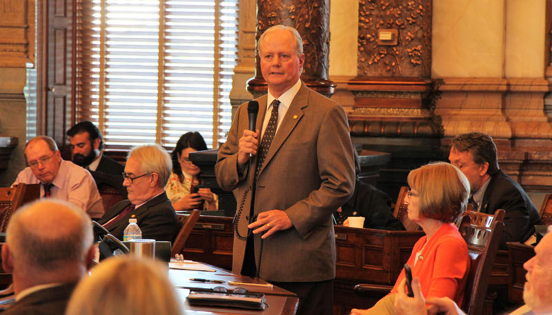 Kansas legislators voted Tuesday night to override a veto by Gov. Sam Brownback of a $1.2 billion tax increase. Sen. Gene Suellentrop, a Wichita Republican, urged colleagues to pass on their votes until Senate President Susan Wagle cast her vote.