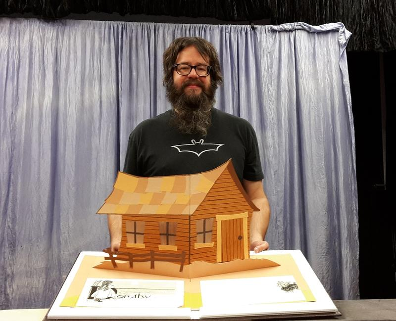 For his first foray into creating puppets, Kansas City paper sculptor Matt Hawkins drew inspiration from the illustrations in L. Frank Baum's original 'The Wonderful Wizard Of Oz' book rather than the later movie.